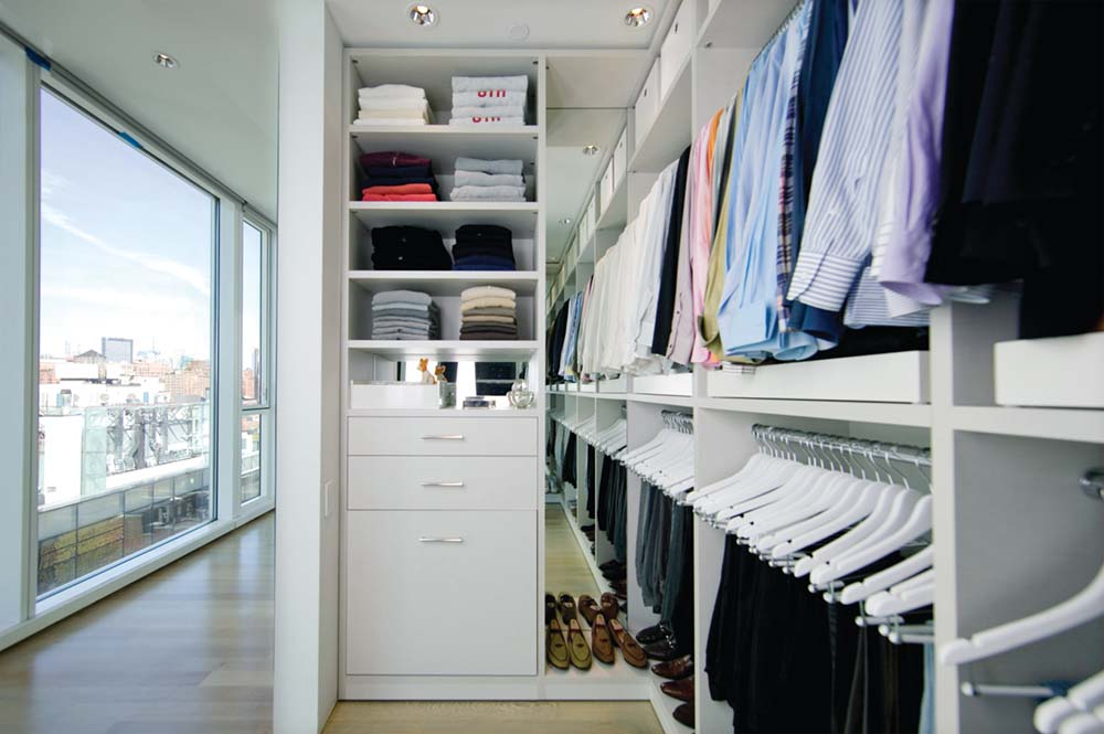 Contemporary California Closets Nyc Reviews In White With Hanging Rods And  Drawers Plus Wooden Floor
