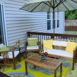 cozy patio deck with outdoor rugs for decks and patio with world market outdoor rugs and comfy bench plus wooden table and hardwood floor for patio