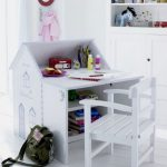 cute small white desks for kid o rteenage bedrooms plus white wooden chair and floor