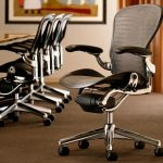 exclusive herman miller aeron parts swivel chair with medium size b and aluminum frame plus adjustable posturfit support and black leather arms