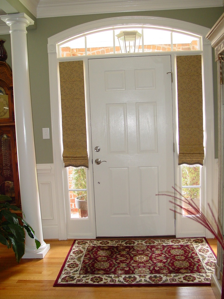 Front Door Window Curtains And Front Door Window Coverings Plus Front Door  Window Treatments With Golden