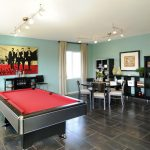 fun interior design games for adults and game room ideas with track lighting and stunning floor and wooden bookcase plus pool table