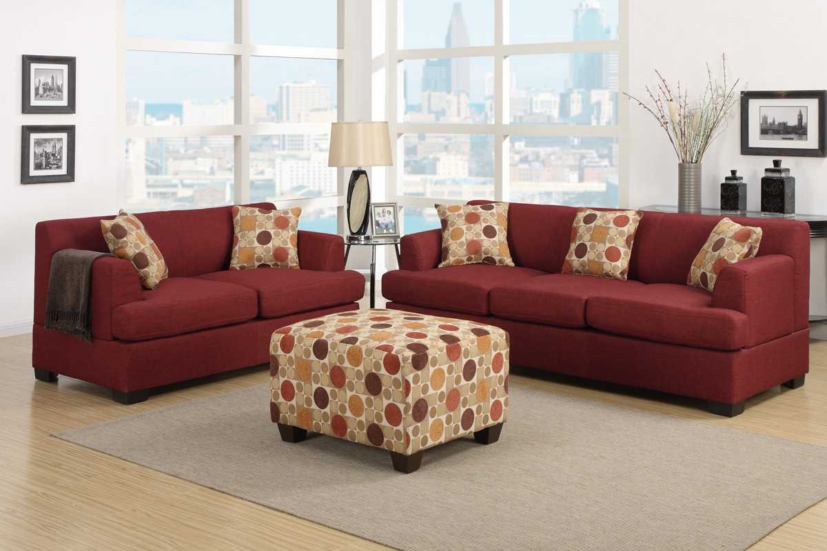 Furniture Shipping Quote For Dark Red Sofa And Ottoman Coffee Table On .