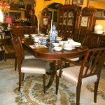 furniture shipping quote for dining room furniture with traditional wooden table and seating plus buffet and mirror