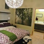 ikea assembly service nyc with cozy floral bedding and headboard plus wall mounted shelf and wooden laminated floor and amazing ceiling lamp