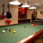 interior design games for adults and game room ideas for adult with pool table and metal pendant lamp plus guitars and other games for adult