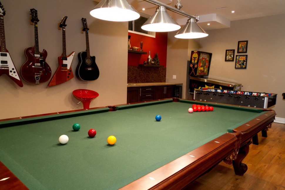 A game room for adult that will make your leisure time for Pool design game