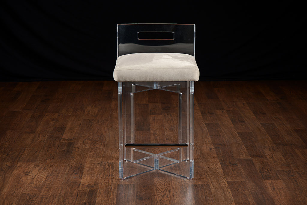 Lucite Counter Stools For Brand New Kitchen Decoration and  : lucite acrylic counter stools with comfy seating and clear back for modern kitchen ideas and airy feel from homesfeed.com size 1024 x 683 jpeg 108kB