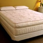 luxurious bold and white shifman mattress design review with two white pillows and rattan basket and yellow wall and area rug