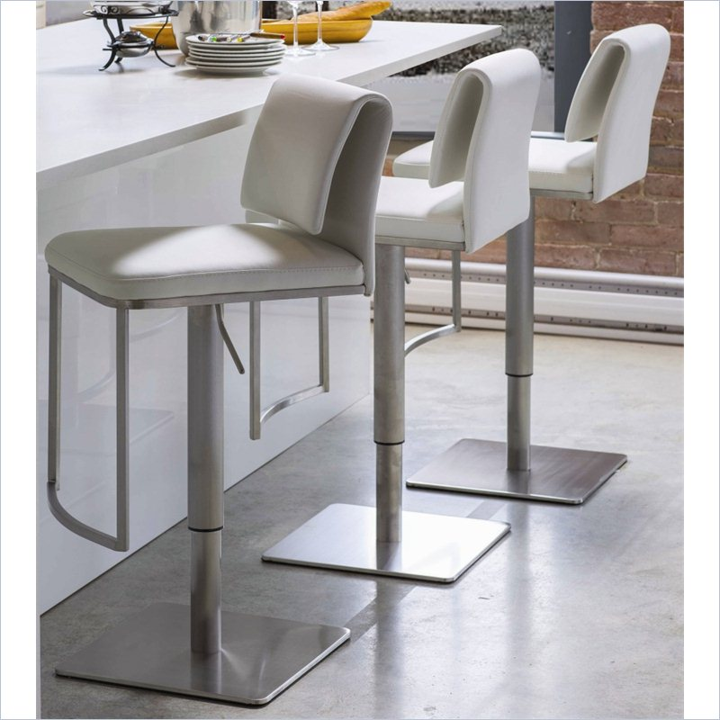 Upholstered Bar Stool Ridged Leg Stools With Backs And: Hang Out Stylishly And Sitting Comfortably On Upholstered