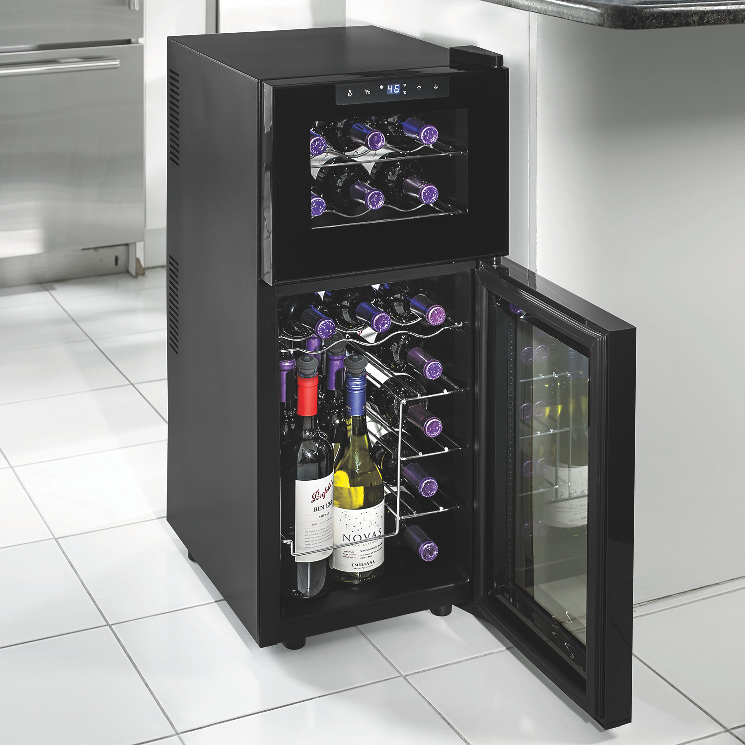 Dual Temp Wine Cooler Mix Your Mood With A Glass Of Wine