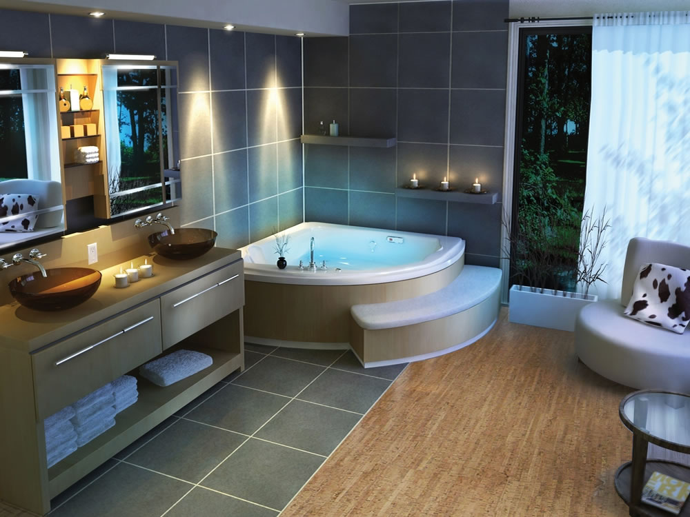 modern bathroom ideas with cork floor in bathroom install with tub and vanity units and unique. Cork Floor In Bathroom  Eco Friendly and Durable Bathroom Flooring