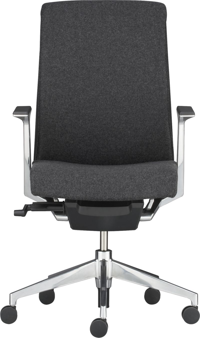 modern haworth very task chair in grey with adjustable heigth and comfy backseat and polished steel  sc 1 st  HomesFeed & Haworth Very Task Chair That Offers the Comfy Home Office Space ...