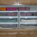 modern plastic flat file cabinet design from ikea with colorful boxes on wooden storage