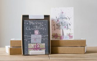 modern unique boxed christmas cards and unique boxed holiday cards set 10 cards