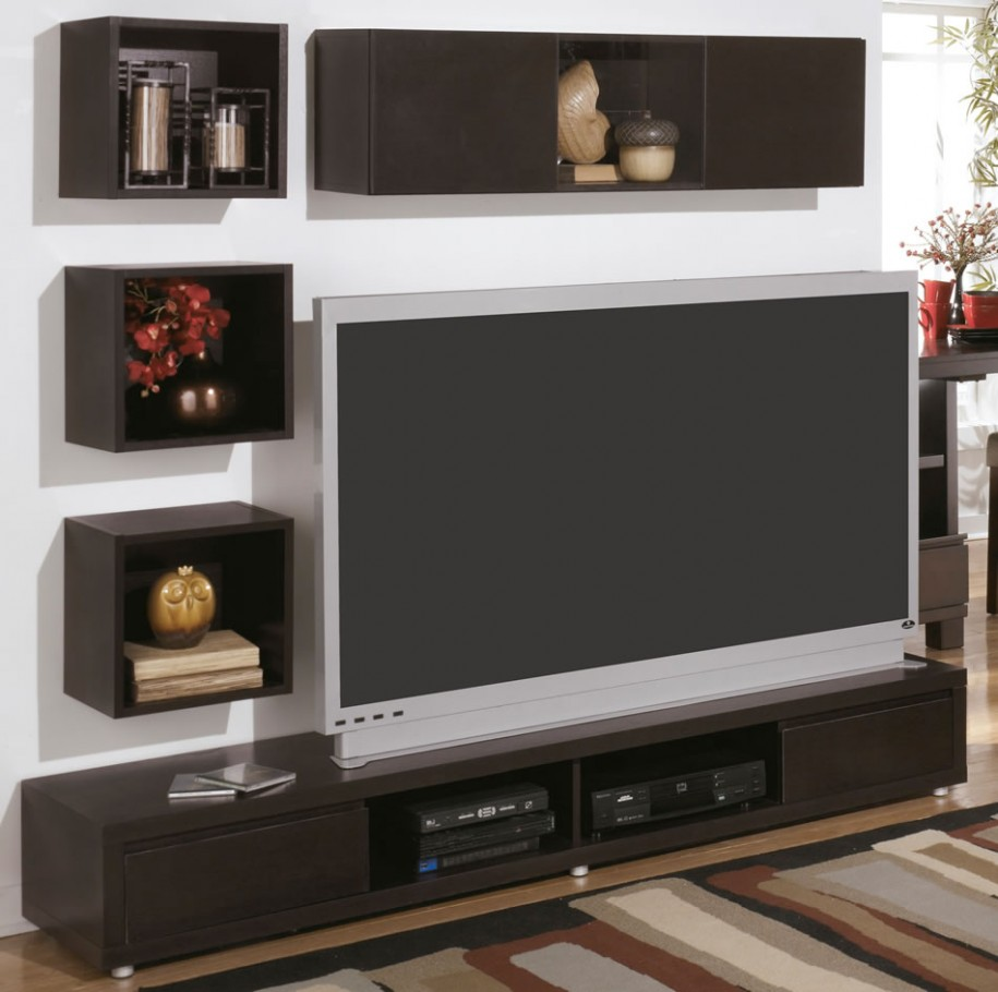 Revamp your shabby interior with several chic long media for In wall tv cabinet