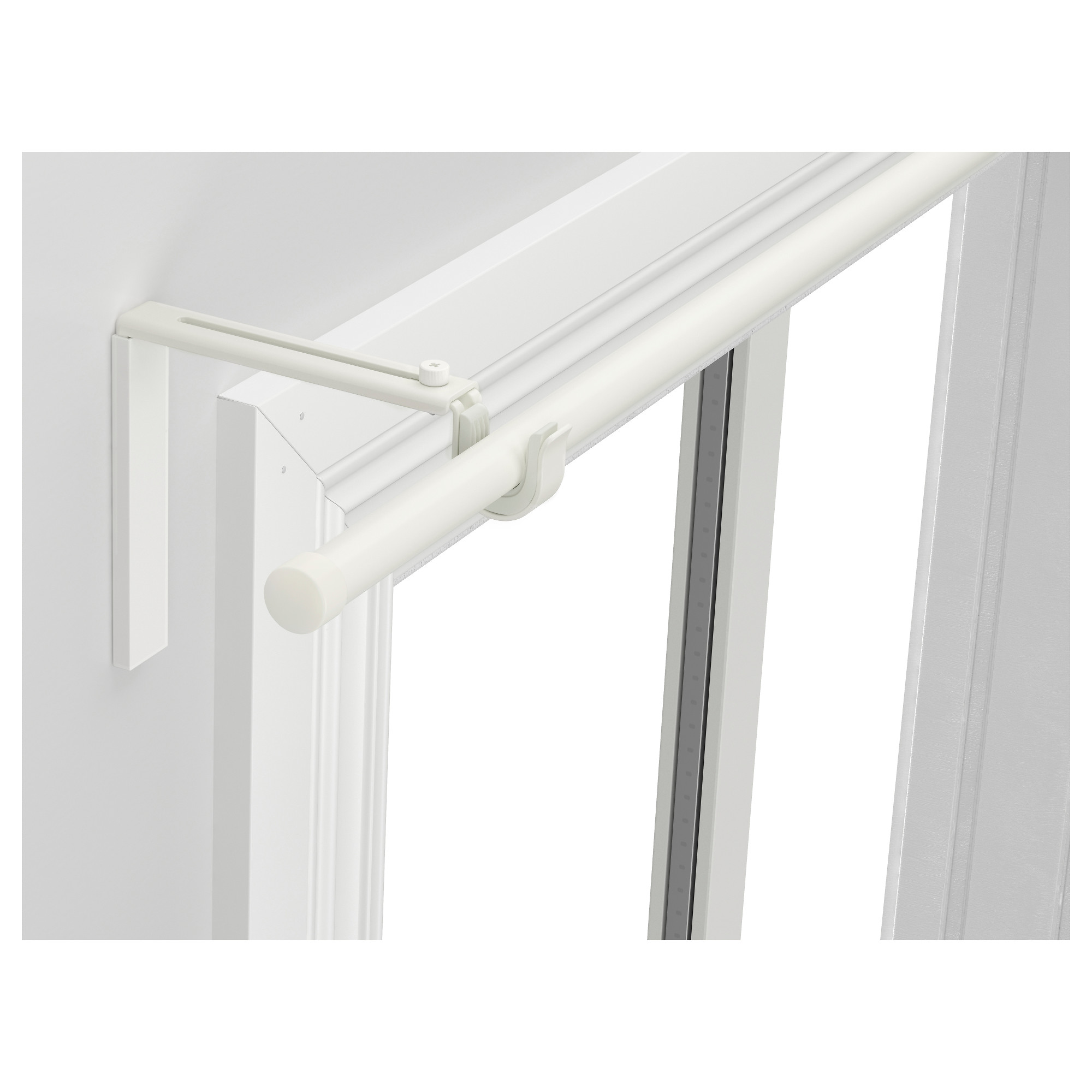 modern white metal tension curtain rod ikea design with curve style