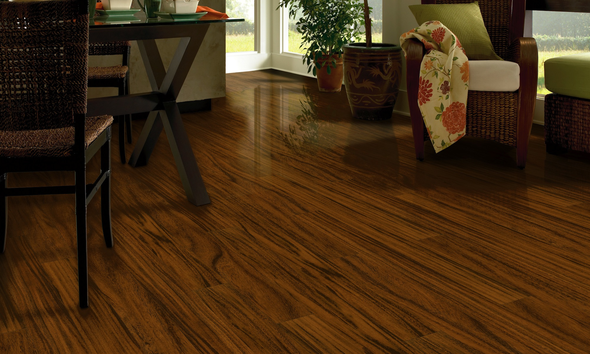most durable hardwood floors design in living space idea with dining