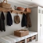 Mudroom Storage Units With Built In Bench Ad Wooden Wall Mounted And Cute Basket And Tile For Flooring