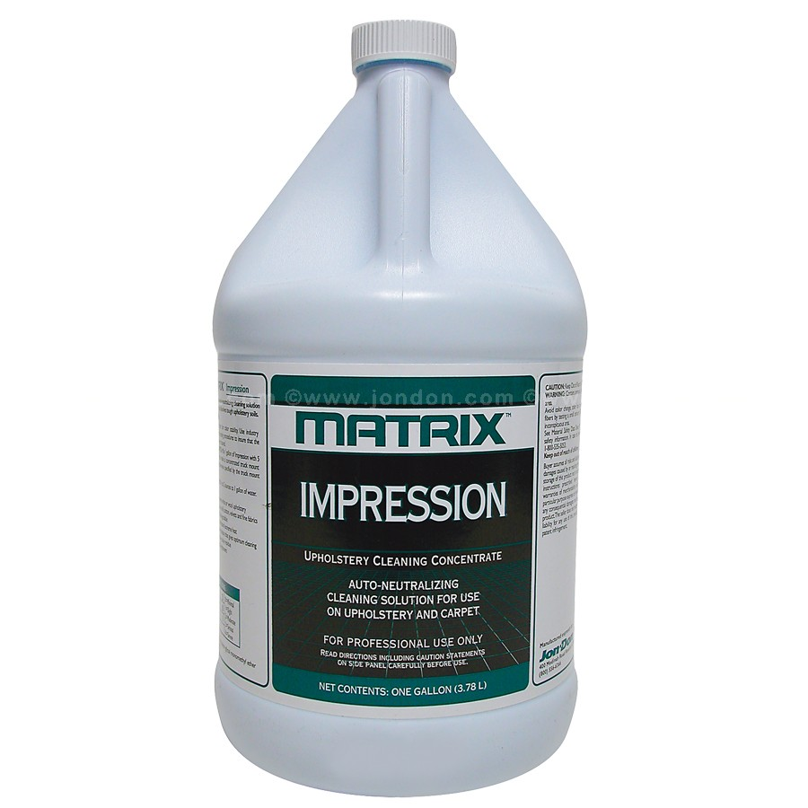 Natural Upholstery Cleaner Matrix Impression Cleaning Concentrate With Auto Neutralizing Solution For Use On