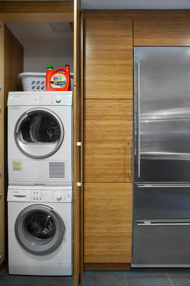 Small stackable washer dryer combo invades every laundry room with modern simplicity homesfeed - Best washer and dryer for small spaces property ...
