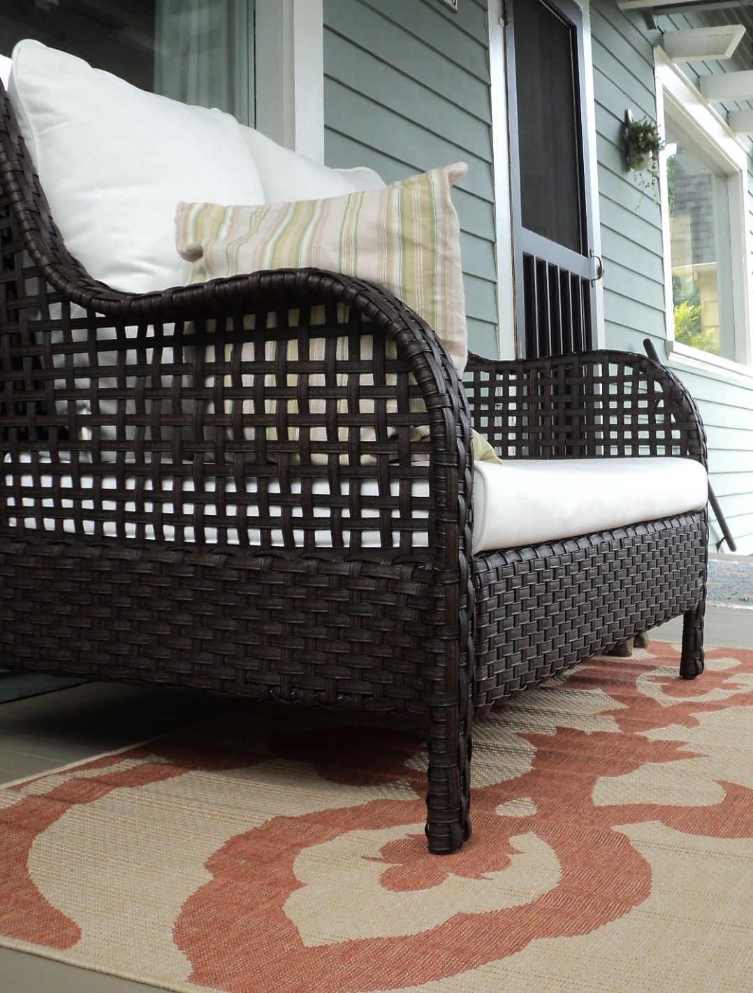 Make an exciting zone in your patio with world market for Outdoor rugs for deck
