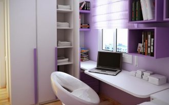 purple bedroom ideas combined with small desks for bedrooms and egg swivel chairs and cubroard plus wall mounted book case