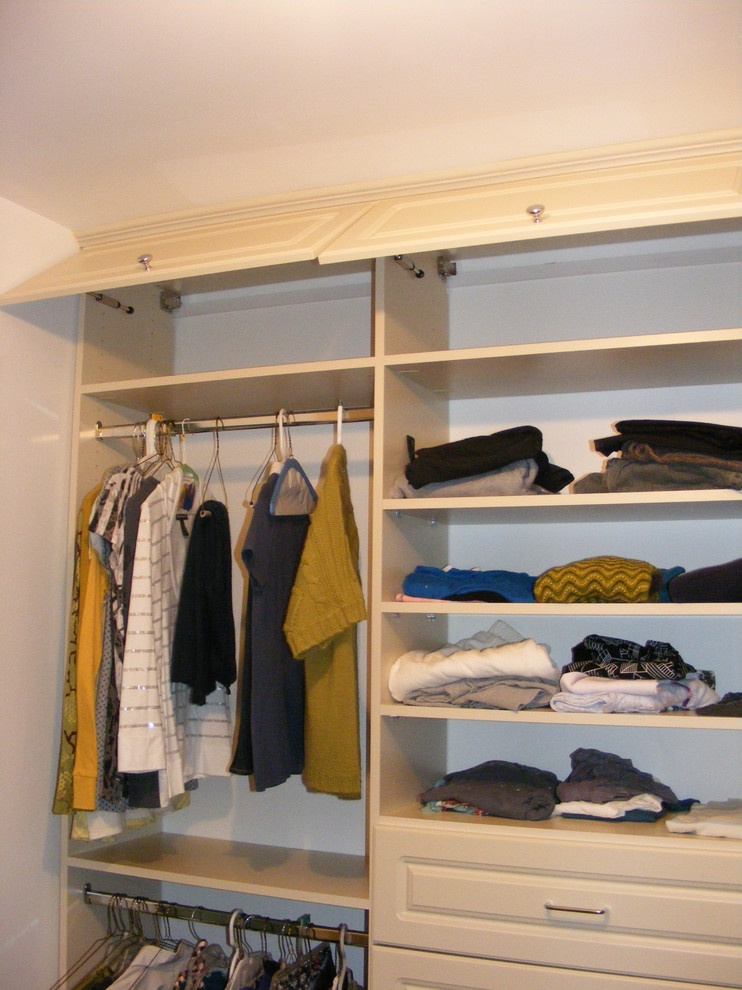 Simple And Traditional California Closets Nyc Reviews In Wooden With  Storage On Top And Hanging Rods