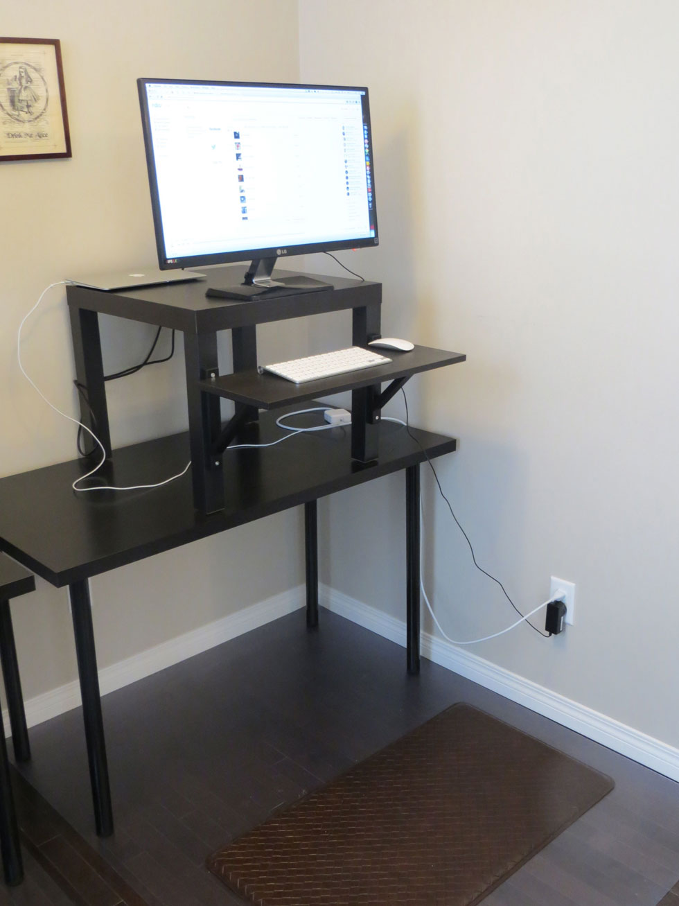 working with ikea stand up desk face your job powerfully homesfeed. Black Bedroom Furniture Sets. Home Design Ideas