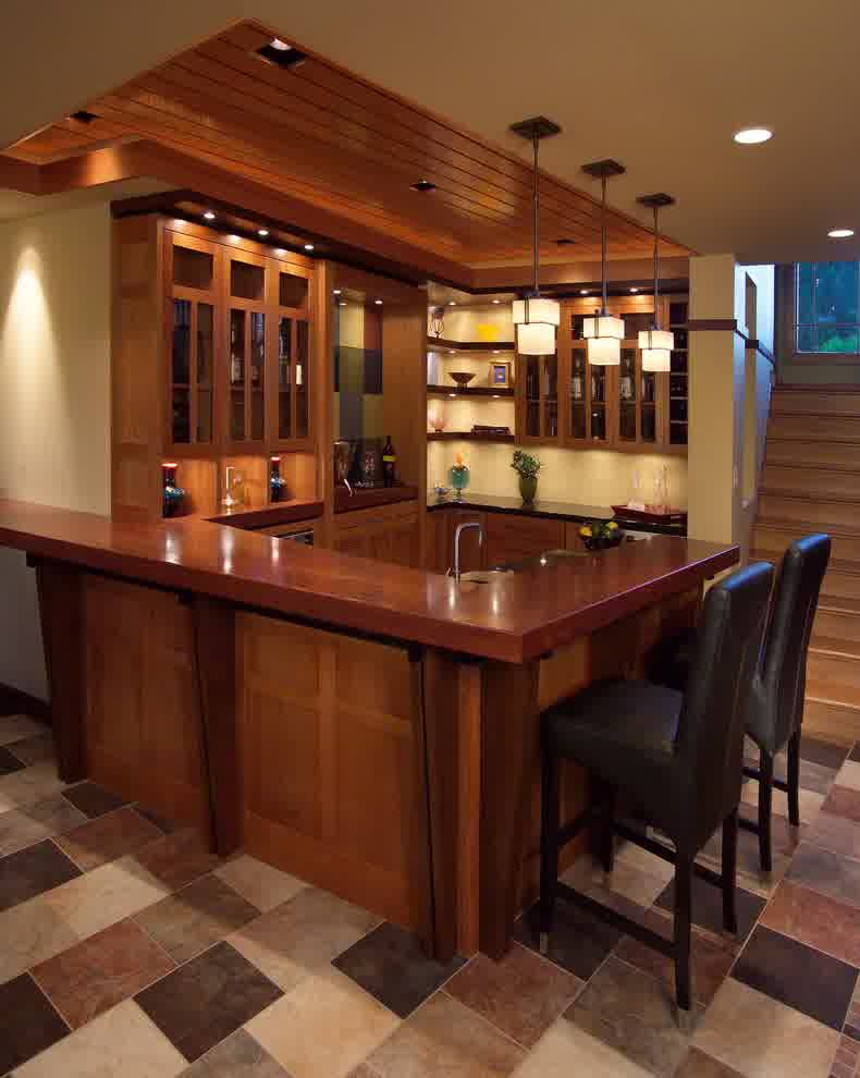 ... Small Basement Corner Bar Ideas