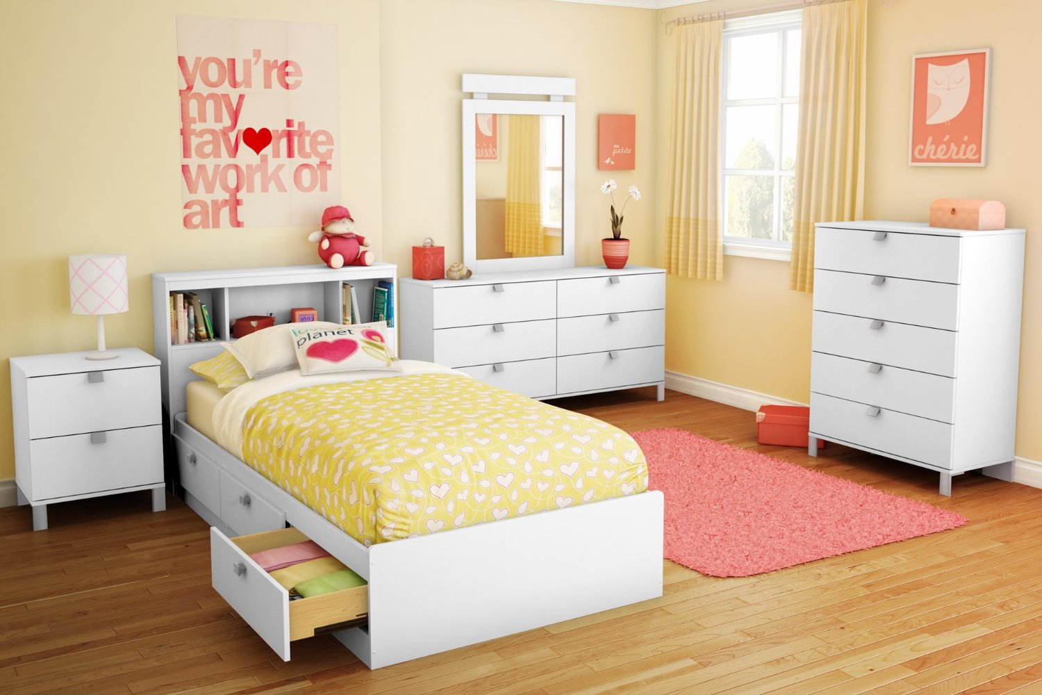 Have your children twin bed with storage for well for Accessoires de decoration