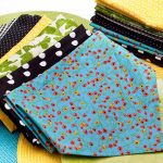 stunning home made cloth napkin design with various floral polka dot patten in colorful style for everyday need