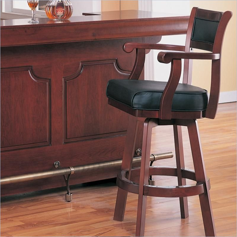 stunning vintage upholstered bar stool design with black leather black in rectangle shape with round footrst & Hang Out Stylishly and Sitting Comfortably on Upholstered Bar ... islam-shia.org