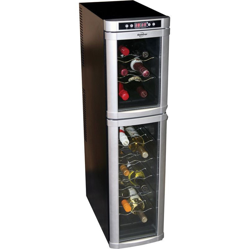 Tall Can Cooler ~ Dual temp wine cooler mix your mood with a glass of
