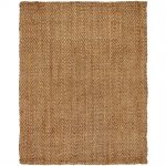 traditional creamy jute rug design in rectangle shape without pattern and rice texture