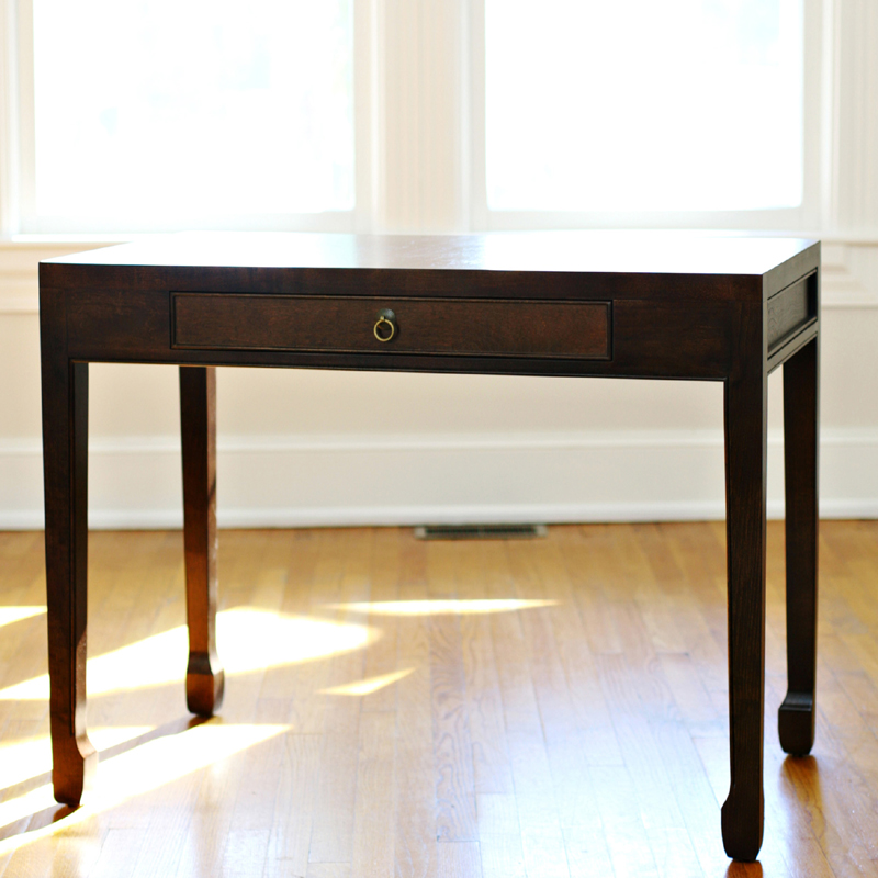 small dark wood writing desk