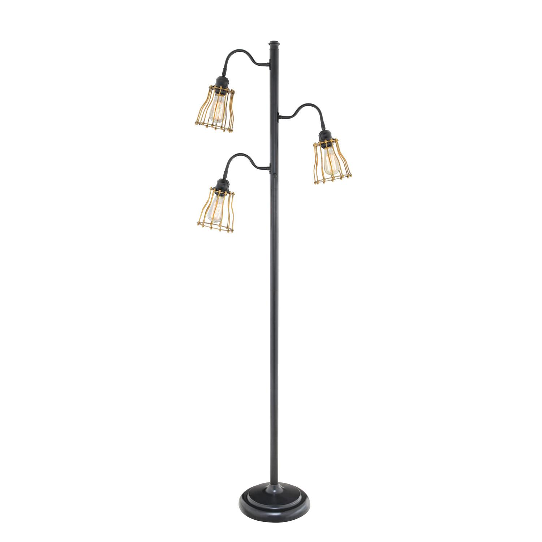 Mesmerize your interior with stunning multi bulbs floor for Cavelleto 3 light floor lamp