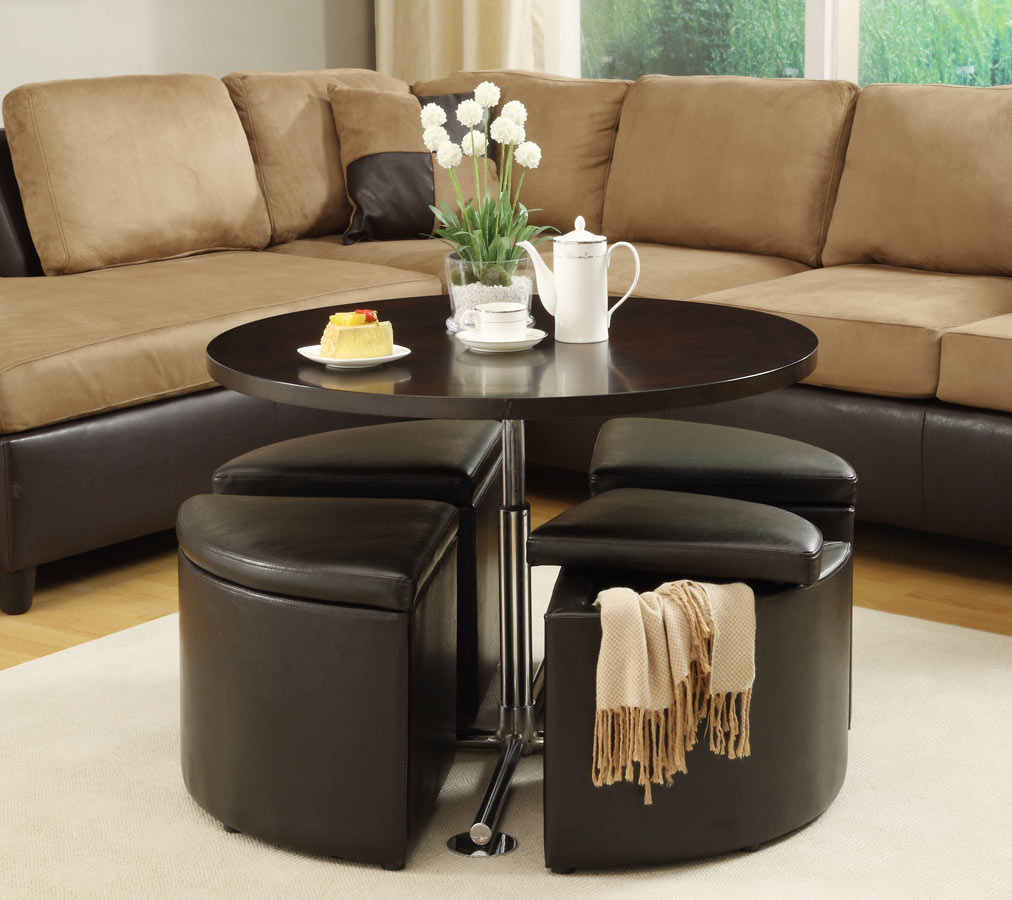 Get A Compact And Multi Functional Living Room Space By Decorating A Coffee Table With Ottoman