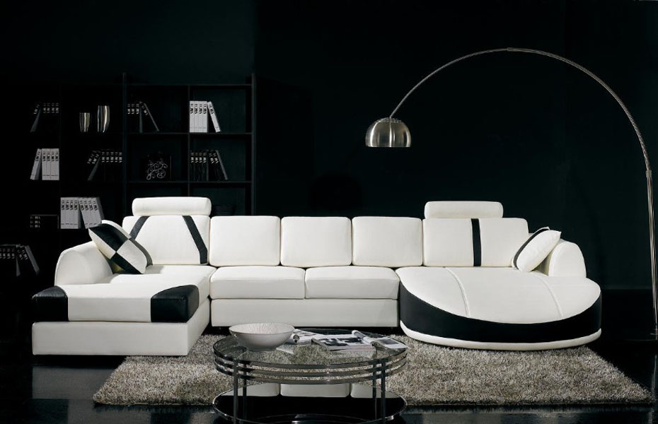 Wonderful White Sectional Sleeper Sofa In The Modern Living Room With Stylish Coffee  Table And Rug Plus Nice Ideas