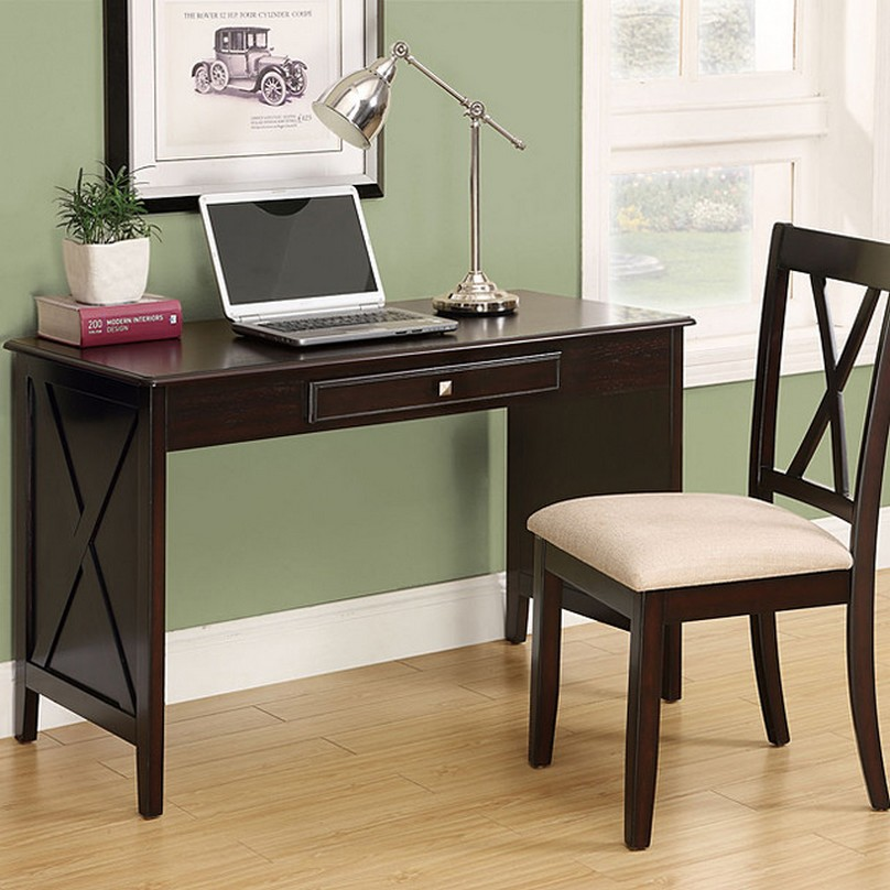 Simple writing desks for small spaces homesfeed - Bedroom desk chair ...