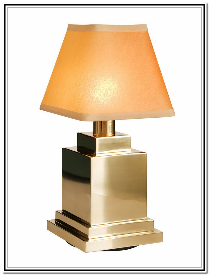 golden table lamp - Have A Wireless Table Lamp For Easy Looking Desk HomesFeed