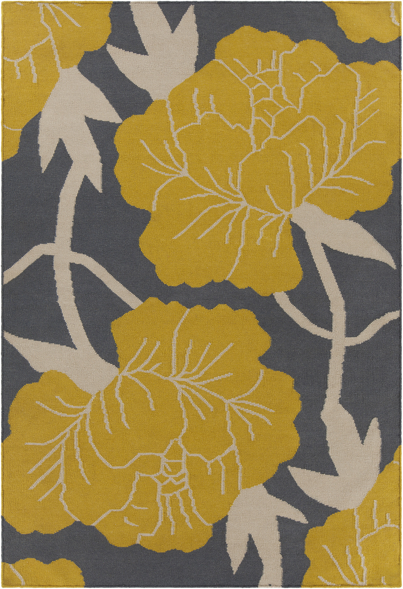 huge selections of thomas paul rugs for interiors  homesfeed - an area rug idea with beautiful yellow flower and white branches patterns