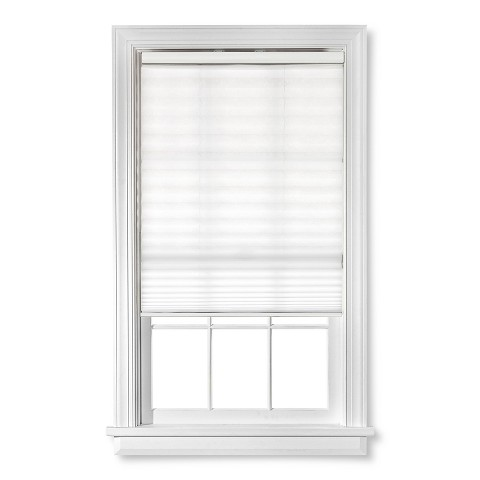 Sheer roman shades target perfect white blinds for for Pleated shades ikea