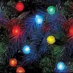 Beautiful and colorful christmas lighting pieces that are installed on Christmas tree