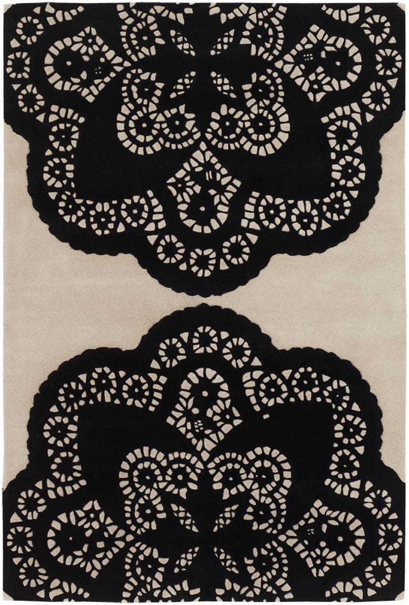 thomas paul rug  roselawnlutheran - beautiful floral patterned area rug in white and black color scheme by thomaspaul