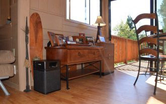Black Austin Air Allergy Machine best air purifiers for smoke red wood floor red wood furniture