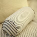 Blue strips bolster pillow