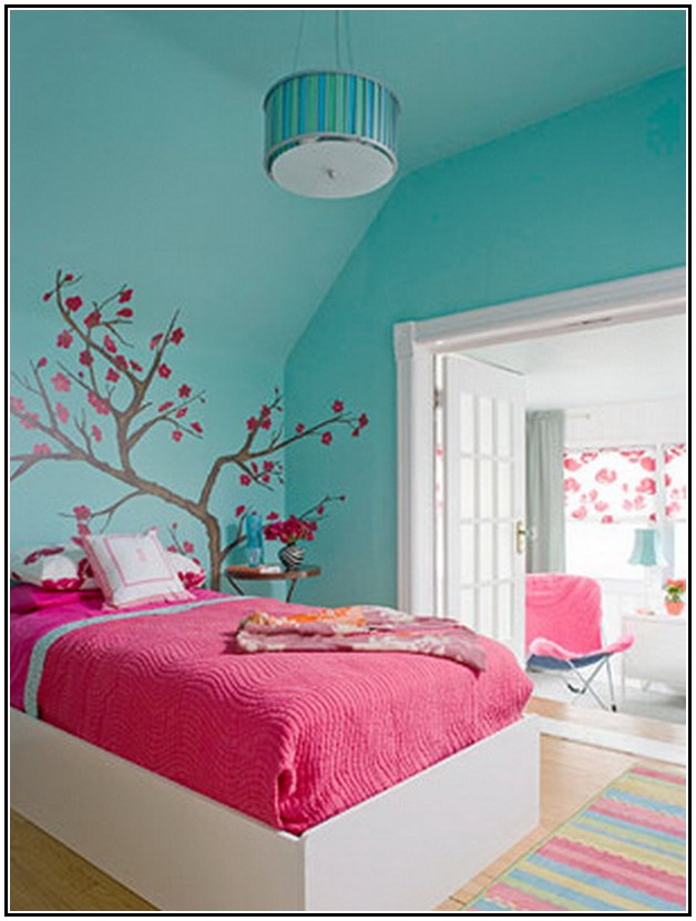 bedroom colour combination with pink home