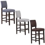 chair upholstered bar stools backs