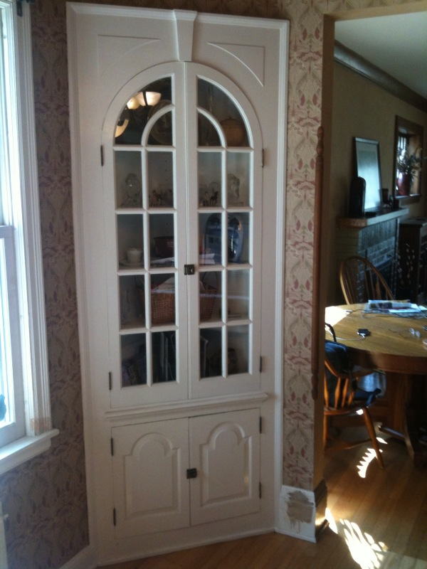 built in corner hutch storage for a dining room - Dining Room Corner Hutch